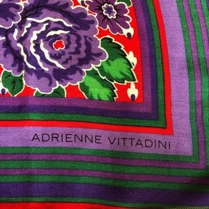 Adrienne Vittadini red, purple, green, white scarf